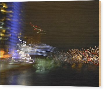 G.r. Grand River Dazzling Lights Wood Print by Mark Minier