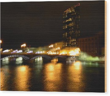 G.r. Grand River Glow Wood Print by Mark Minier