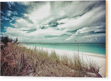 Grace Bay Wood Print by Maria Robinson