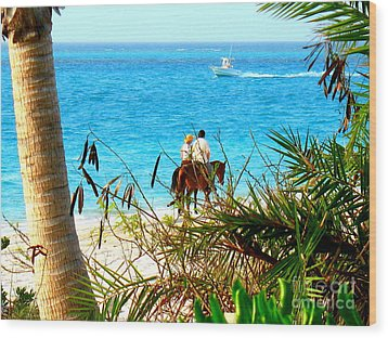 Grace Bay Riding Wood Print by Patti Whitten