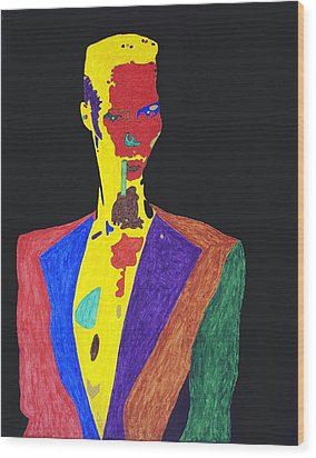 Grace Jones Wood Print by Stormm Bradshaw