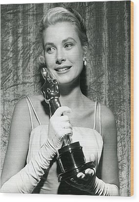 Grace Kelly At Awards Show Wood Print