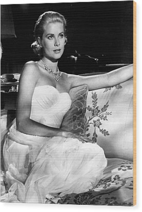 Grace Kelly Looking Gorgeous Wood Print