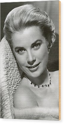 Grace Kelly Smiles Wood Print