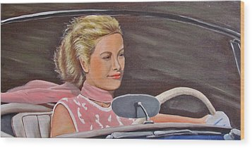 Grace Kelly - To Catch A Thief Wood Print by Kevin Hughes