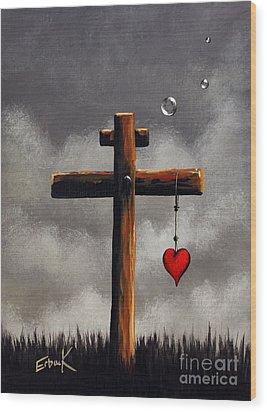 Grace Lives Here By Shawna Erback Wood Print by Shawna Erback