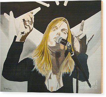 Grace Potter At The Peel Wood Print by Stuart Engel