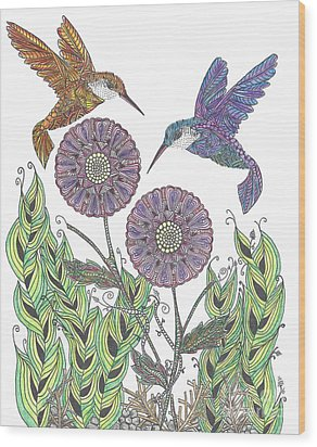 Graceful Humming Birds 2 Wood Print