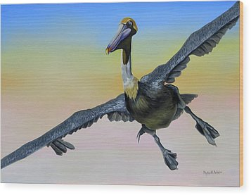 Graceful Landing Wood Print by Phyllis Beiser