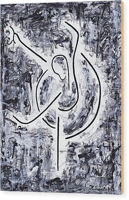 Graceful Swan Wood Print by Kamil Swiatek