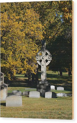Graceland Cemetery Chicago - Tomb Of John W Root Wood Print by Christine Till