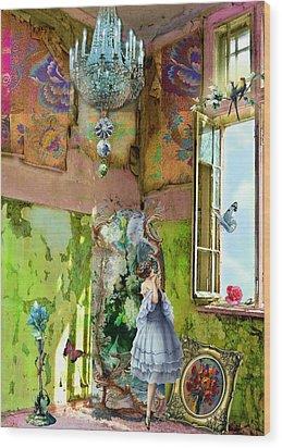 Grace's Window Wood Print by Laura Botsford