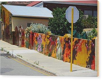 Graffiti   Wood Print by Bobby Mandal