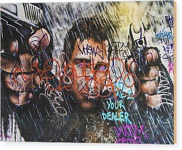 Graffiti 03 Wood Print by Svetlana Sewell