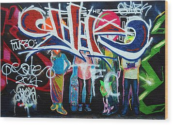 Graffiti Art Wood Print by David Pantuso