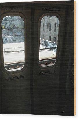 Graffiti From Subway Train Wood Print by Mieczyslaw Rudek