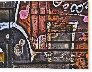 Graffiti II Wood Print by Alana Ranney