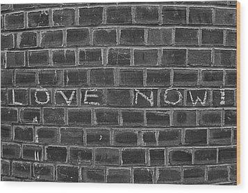 Graffiti On Curved Brick Wall Wood Print by Robert Ullmann