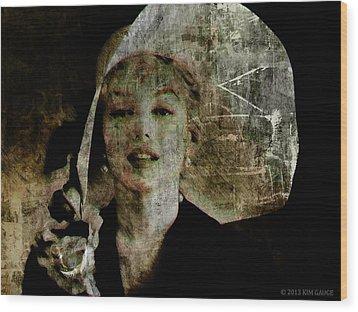 Graffiti On Marilyn Wood Print