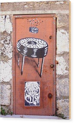 Graffiti Wood Print by Roberto Alamino