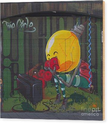 Graffiti Stokes Croft Wood Print by Brian Roscorla