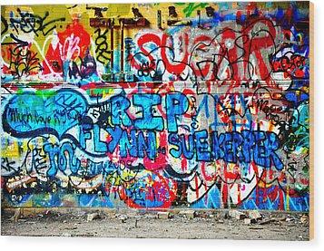 Graffiti Street Wood Print by Bill Cannon