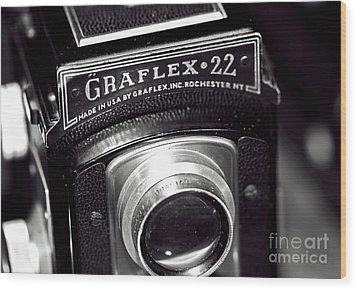 Graflex 22 Wood Print by John Rizzuto