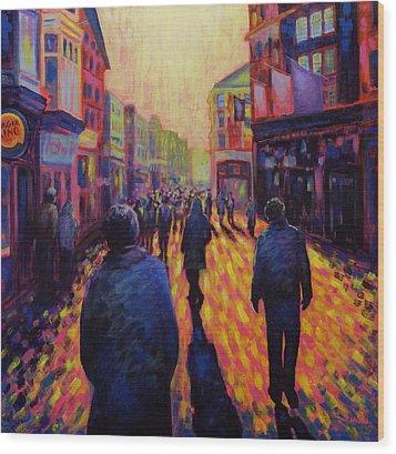 Grafton Street Dublin Wood Print by John  Nolan