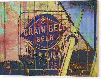 Grain Belt Beer Wood Print by Susan Stone