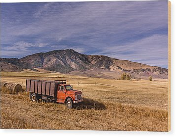 Grain Truck Wood Print by Jeremy Farnsworth