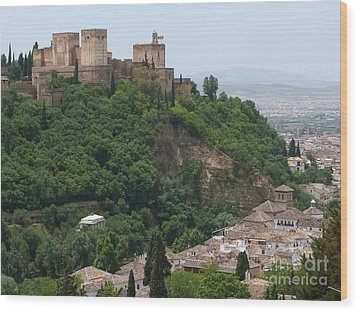 Granada - Alhambra Towers Wood Print by Phil Banks