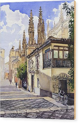 Granada Cathedral Wood Print by Margaret Merry