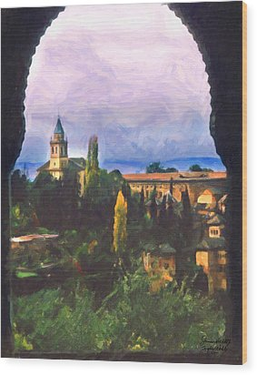 Granada Through The Keyhole Wood Print