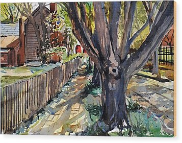 Granary Street New Harmony Indiana Wood Print by Spencer Meagher