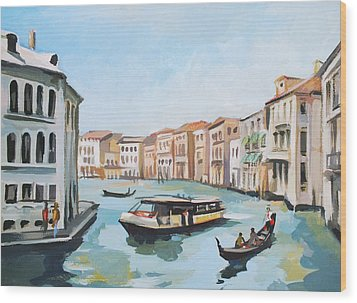 Grand Canal 2 Wood Print by Filip Mihail