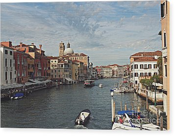 Wood Print featuring the photograph Grand Canal In Venice by Cendrine Marrouat