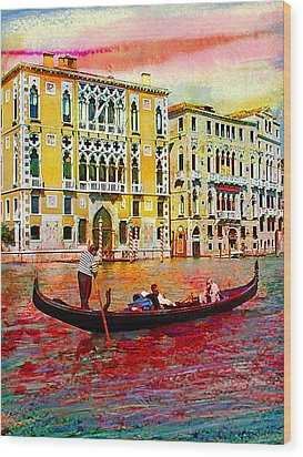 Grand Canal Wood Print by Steven Boone
