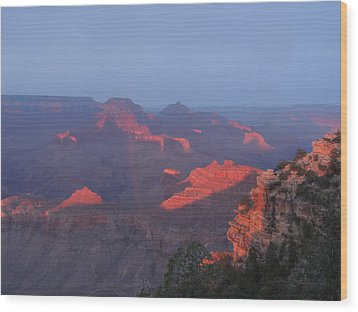 Grand Canyon At Sunset Wood Print
