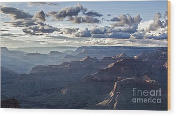 Grand Canyon At Sunset Wood Print by Shishir Sathe