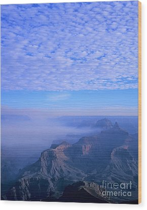 Grand Canyon Blues Wood Print by Alex Cassels