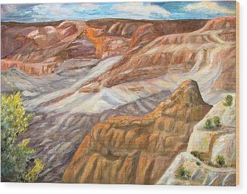 Grand Canyon Wood Print by Caroline Owen-Doar