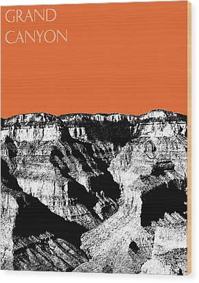 Grand Canyon - Coral Wood Print by DB Artist