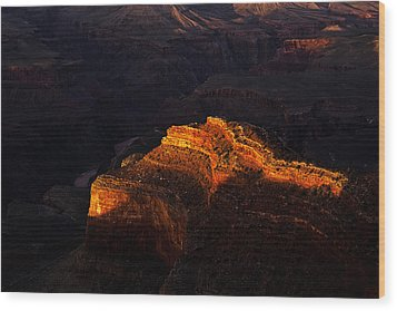 Grand Canyon Evening Wood Print by Andrew Soundarajan