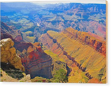 Grand Canyon In Vivid Color Wood Print