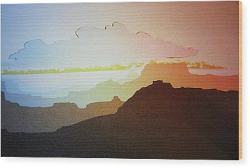 Wood Print featuring the painting Grand Canyon by John  Svenson