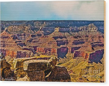 Grand Canyon Mather Viewpoint Wood Print by Bob and Nadine Johnston