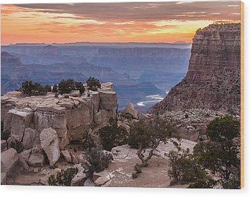 Grand Canyon Morning Wood Print
