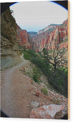 Wood Print featuring the photograph Grand Canyon Or Bust by Jon Emery