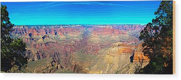 Wood Print featuring the photograph Grand Canyon Panorama by Penny Lisowski