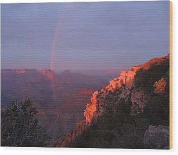 Grand Canyon Rainbow Wood Print